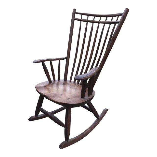 Vintage Craftsmanship Hunt Country Birdcage Rocking Chair Rocker For Sale