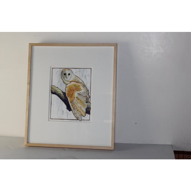 Owl Watercolor Painting - Image 2 of 4