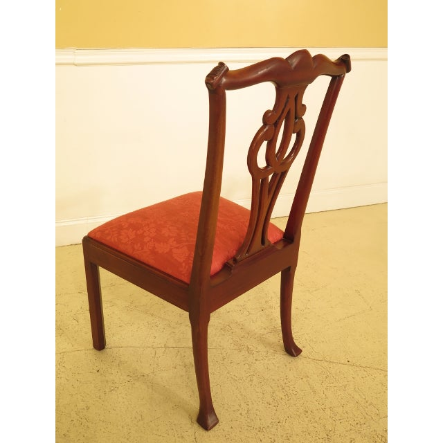 Baker Chippendale Mahogany Dining Room Chairs - Set of 10 For Sale - Image 10 of 13
