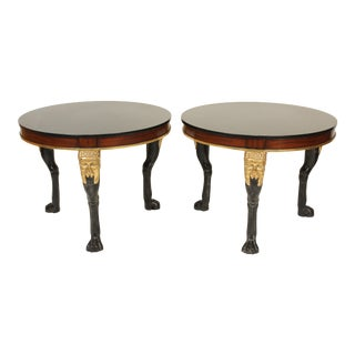 Neo Classical Style Marble Top End Tables - a Pair For Sale