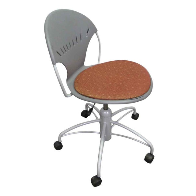 Gray Modern Rolling Office Chair For Sale - Image 8 of 9