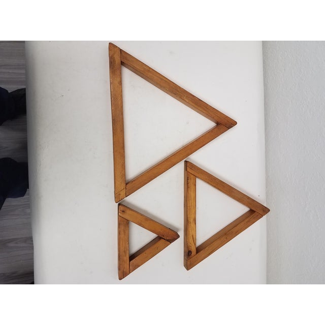 Antique English Wooden Triangular Trivets For Sale In Dallas - Image 6 of 8