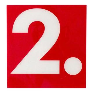 """Vintage Gas Station Sign """"Number 2"""""""
