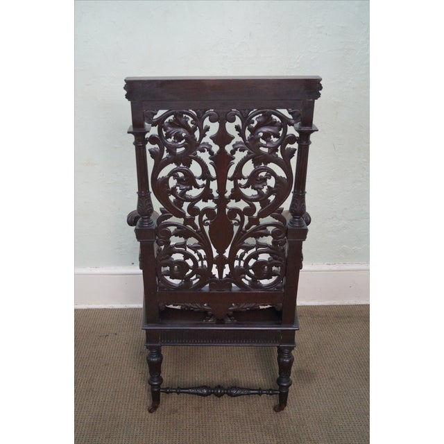 Antique 19th Century Carved Oak Throne Chair - Image 8 of 10