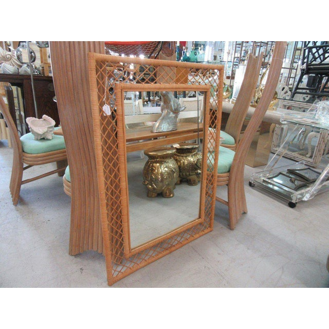 Wrapped Bamboo Wall Mirror - Image 4 of 5