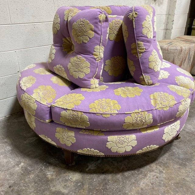 French John Boone Custom Upholstered Circular Sofa For Sale - Image 3 of 13