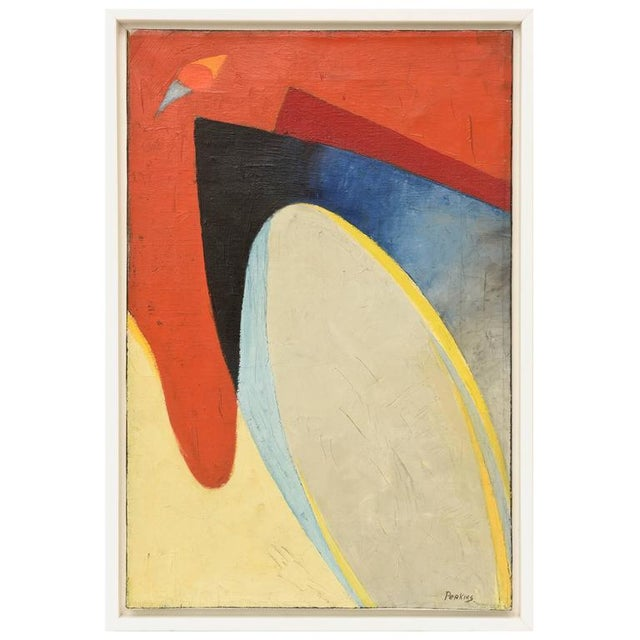 Signed Philip Perkins Vintage Cubist Painting - Image 2 of 9