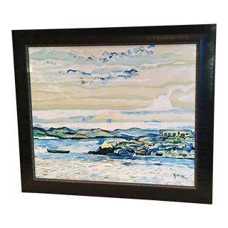"""""""Irish Isle"""" Impressionistic Original Oil Painting"""