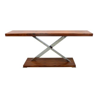 """""""Victura"""" Console Table in Palisander & Chrome by Mobilidea, Italy"""