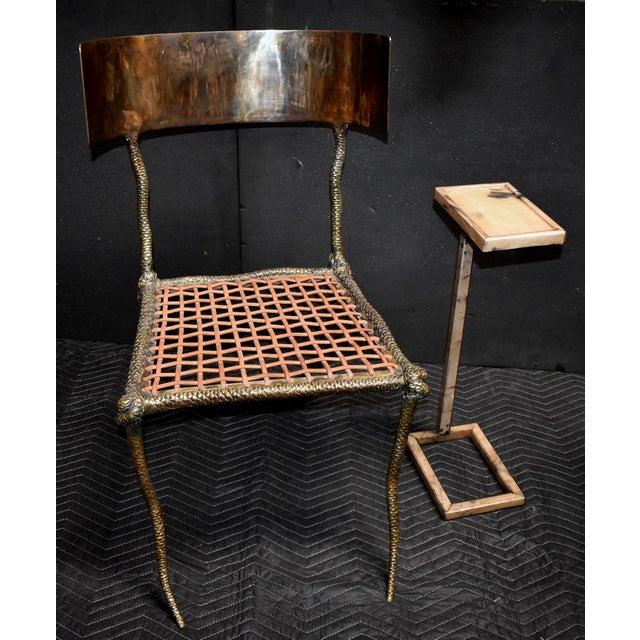 """2000 - 2009 Sculptural """"Snake"""" Design Brass Desk or Bedroom Chair For Sale - Image 5 of 9"""