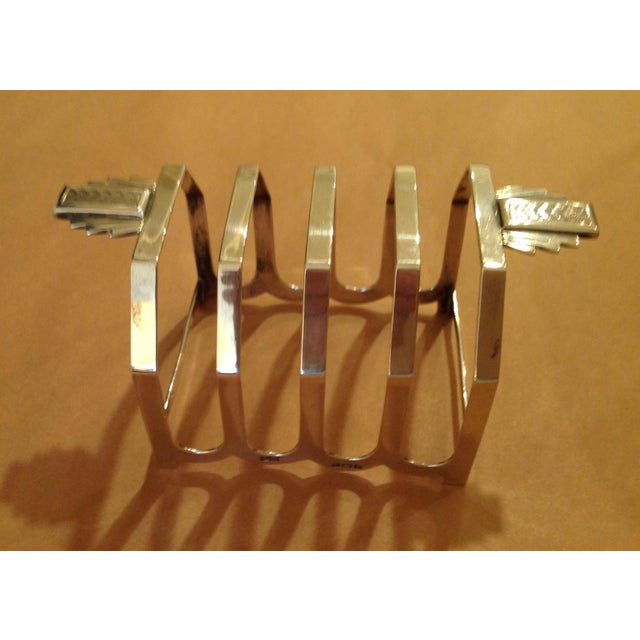 Art Deco Art Deco Sterling Silver Mappin and Webb Toast Rack For Sale - Image 3 of 7