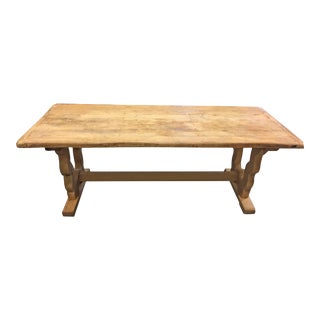 19th Century Spanish Style Bleached Farmhouse Table For Sale