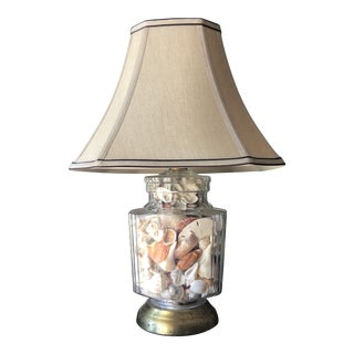 1970s Collected Seashells Nautical Table Lamp** For Sale