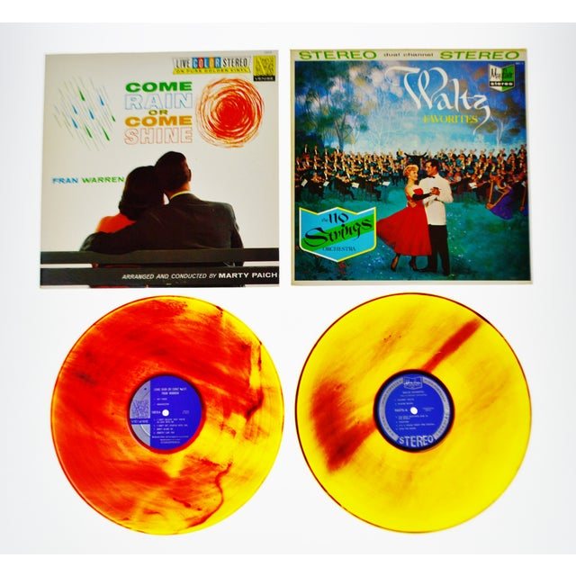Vintage Colorful Translucent LP's & Covers - Set of 10 - Image 4 of 10