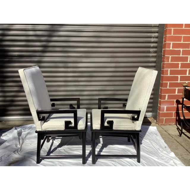 1970s Greek Key Arm Chairs by Century, a Pair For Sale In Atlanta - Image 6 of 12
