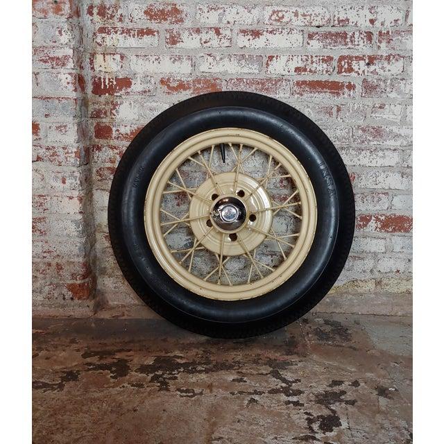 Ford Model a Original 1920/30s Wire Spoke Wheel W/Insa Tire For Sale - Image 10 of 10