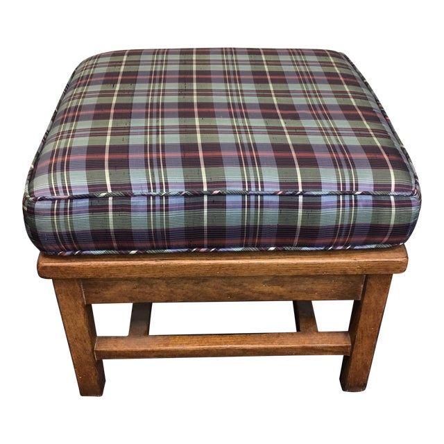 Plaid Ottoman - Image 1 of 8