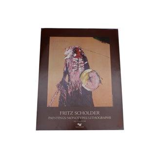 Fritz Scholder Signed 1980 Exhibition Poster For Sale