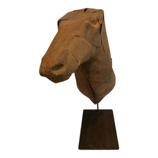 Early 20th Century Taxidermy Mold Horse Head For Sale
