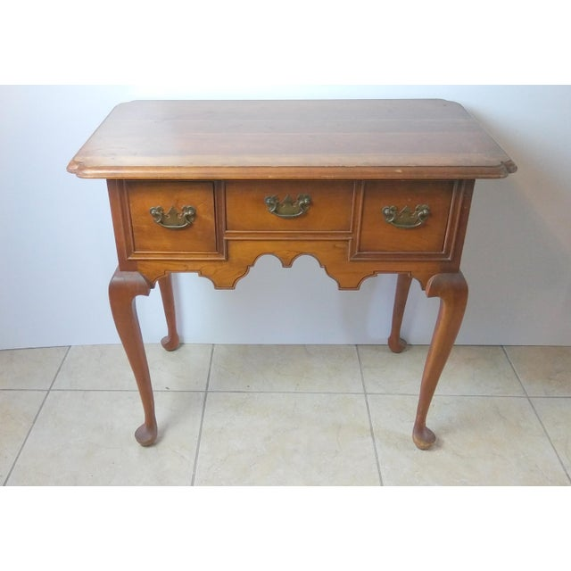 20th Century Queen Anne Style L & Jg Stickley Oak Writing Desk For Sale - Image 11 of 11