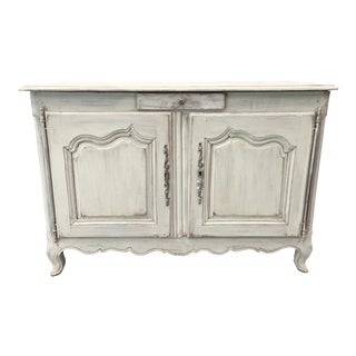 French Antique Louis XV Style Painted Buffet For Sale
