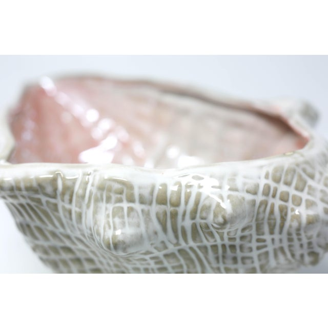 "Large 15"" Conch Shell Bowl by Pottery Barn For Sale In Tampa - Image 6 of 13"