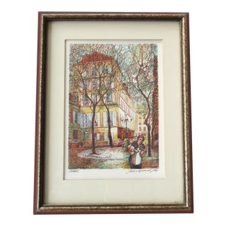 Vintage John Speirs Paris - the First Day of Spring Lithograph