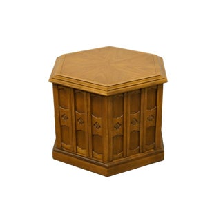 Drexel Esperanto Collection Hexagonal Storage End Table For Sale