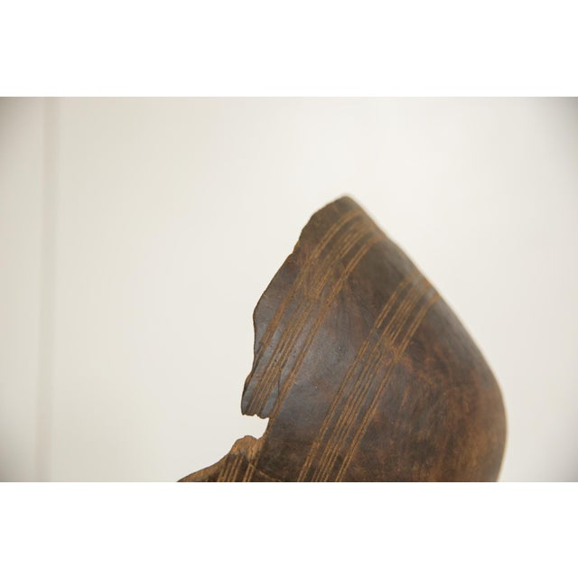 Old New House Vintage Wooden African Bowl For Sale - Image 4 of 5
