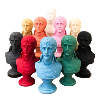 Napoleon Bust Candles - Set of 3 For Sale