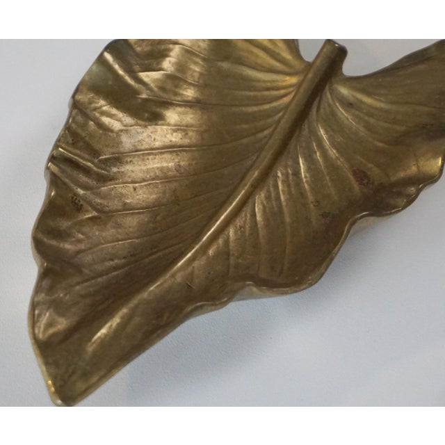 1940s Calla Lily leaf in solid brass by Virginia Metalcrafters. It would look great just about anywhere you want to add...