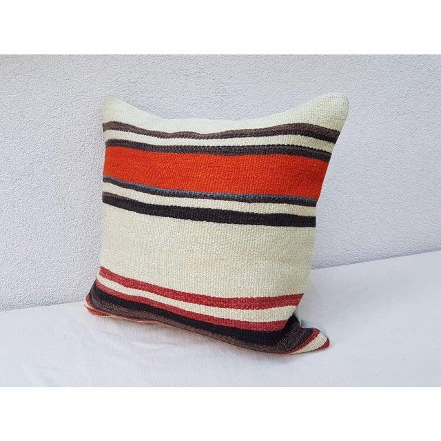 Islamic Handmade Turkish Kilim Pillow For Sale - Image 3 of 6