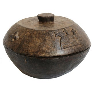 Yoruba Divination Carved Wood Bowl For Sale