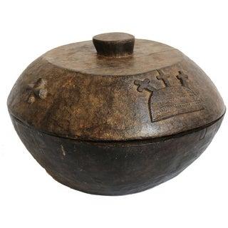 Yoruba Divination Carved Wood Bowl