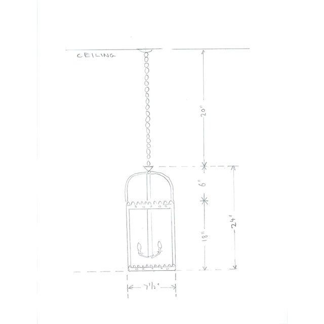 Metal 1990s Vaughan Green Indoor Hanging Lantern For Sale - Image 7 of 9