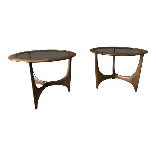 1950s Mid Century Modern Lane Side Tables - a Pair For Sale
