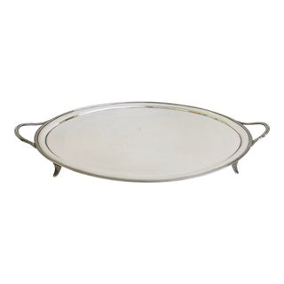 Antique Art Deco Silver Tray For Sale