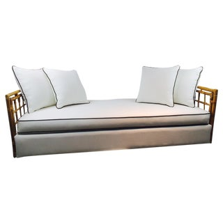 Bamboo Frame White & Chocolate Brown Daybed