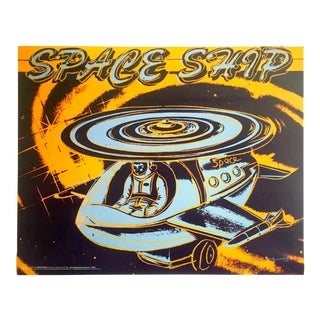 "Andy Warhol Foundation Vintage Pop Art Poster Print ""Space Ship"" 1983 For Sale"