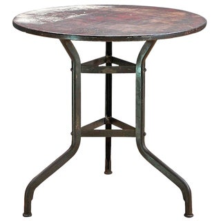 1910s Vintage Industrial Toledo Metals Company Factory Break Table For Sale