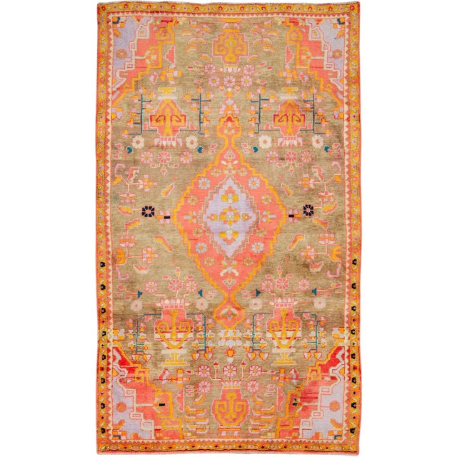 """Vintage Persian Mahal Rug – Size: 3' 11"""" X 6' 8"""" For Sale"""