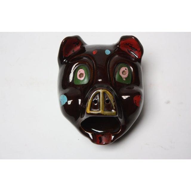 Hand-Painted Folk Art Porcelain 'Pig' Ashtray For Sale - Image 13 of 13