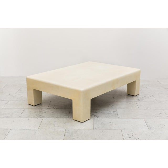 2010s Lacquered Goatskin Low Table, Usa For Sale - Image 5 of 7