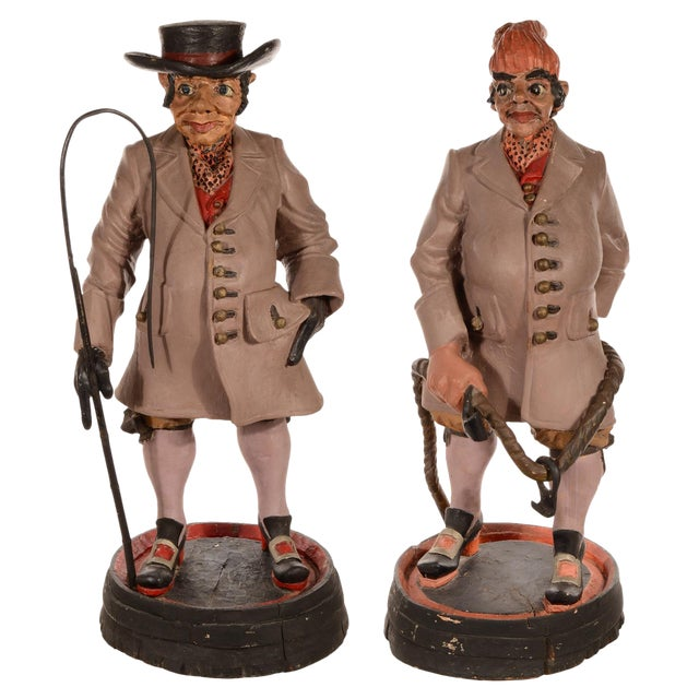 Coachman and Groom Advertising Trade Figures For Sale