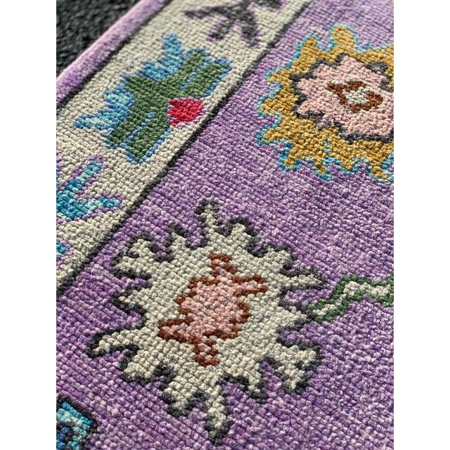 Contemporary Pastel Turkish Oushak Rug - 2′11″ × 9′11″ For Sale - Image 12 of 13