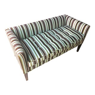 Upholstered Lulu Dk Fabric Bench For Sale