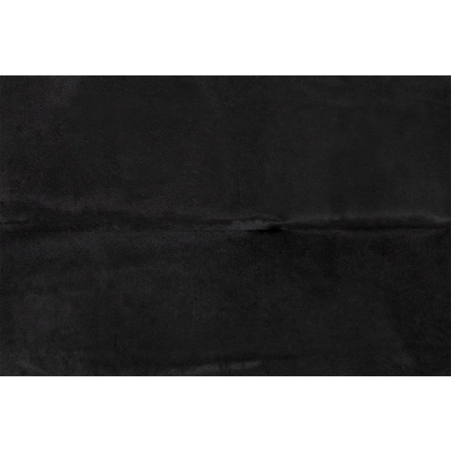 """black (dyed) cowhide Brazil approximately 78"""" h x 90"""" w size + markings may vary slightly from cowhide pictured..."""