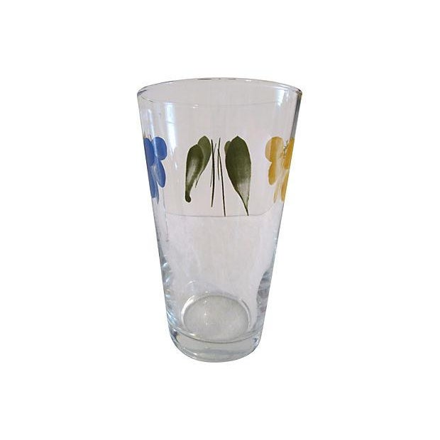 Vintage Libbey Petal Pint Tumblers - Set of 4 For Sale - Image 4 of 5