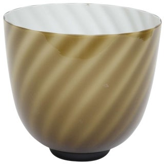 Tommaso Barbi Murano Swirl Vase For Sale