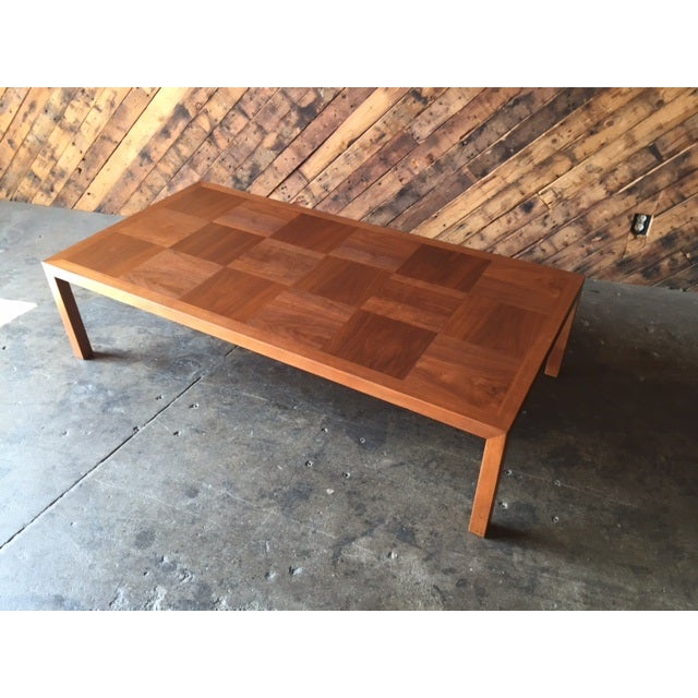 Mid-Century Refinished Parsons Style Coffee Table - Image 5 of 7